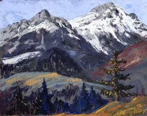 'Ravine In The Tatras Mountains', 1935, pastel on cardboard, 47x57.jpg