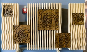 "V. Kopyn Decorative panel "" Roses "" wood, plywood"