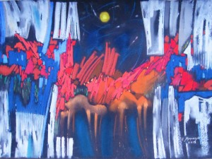 N. Myronchuk-Didyk Fireworks, paper, pastel, 50х65