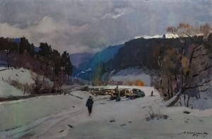 'Заготівля лісу', 1959, 134х89