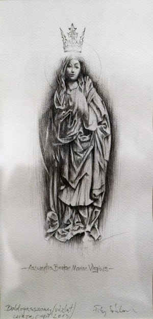 Sándor Filep Theotokos (Sketch) pencil, paper 35х17