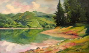 'Terebovlian Reservoir', oil on canvas
