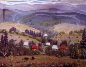 Хати в лісі, 2001, п.о., 50х77