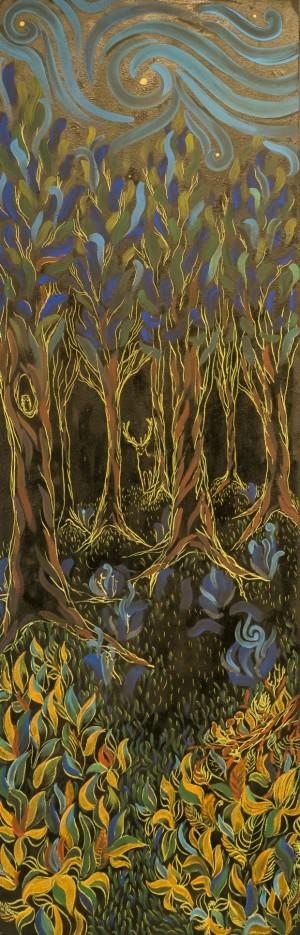 Кочуровська О. Дух лісу, (ліва частина)зміш.техн.акр