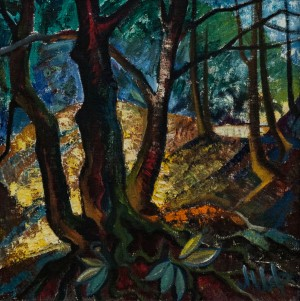 'Trees', 1972, oil on canvas