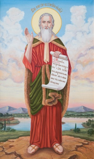 Holy Prophet of God Elijah, 2013, oil on canvas, 100x60