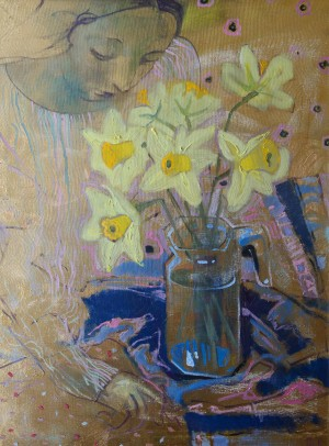 L. Korzh-Radko. Daffodils, 2016, mixed technique on canvas