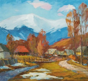 Izky village, 2012, oil on canvas, 70х75