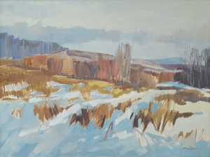 O. Fedor Winter in Transcarpathia , 2014, oil on canvas, 100x75