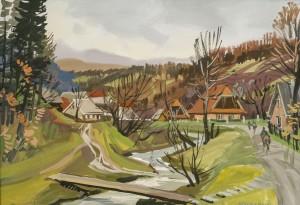 V. Hanzel, Village motif, 2016