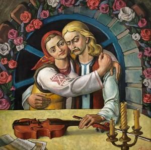 'Думи скрипаля', 2001, п.о., 65х65