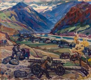 Верховинська осінь, 2004, п.о., 75х85