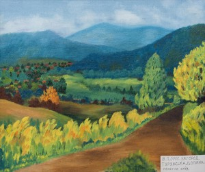 V. Oros. Uzhhorod. Turianska Valley, oil on canvas