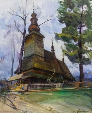 V. Svaliavchyk. Holy Spirit Church in Kolochava village, 2013
