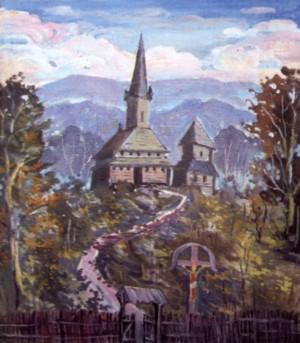Церква в с.Данилово, 2000, п.о., 85х60