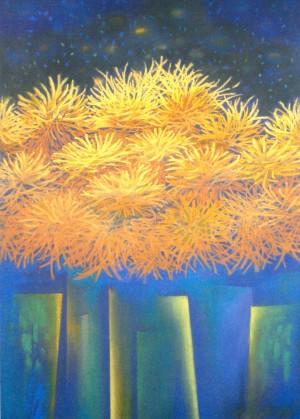 Autumns Gold, 2007, paper, pastel, 65x50