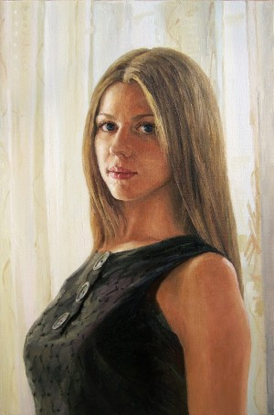 Khrystyna, 2012, oil on canvas