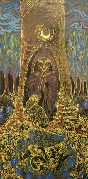 Кочуровська О. Дух лісу, (центральна частина)зміш.техн.акр