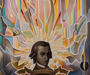 'Genius Of Mozart', 2006, tempera on canvas