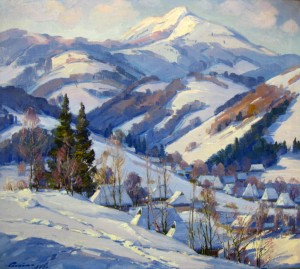 The Village In The Mountains, 1986, oil on canvas, 90х100