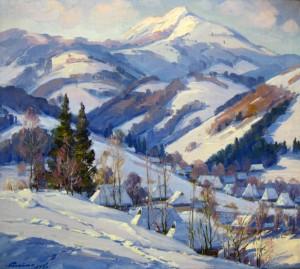 Село в горах, 1986, п.о., 90х100