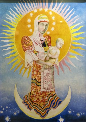 Győző Somogyi A Woman Clothed in the Sun egg tempera, canvas 70х50