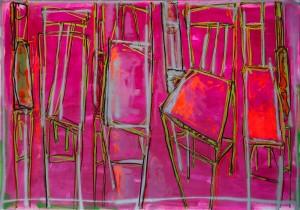 Із серії Chairs, 2015, п. о. акр. розпилювач, 140х200