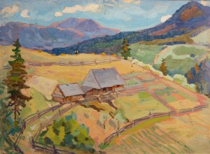'Vasyl's Estate', 1965, oil on cardboard, 50x65