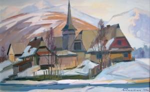 Село в Карпатах, 1996, п.о., 50х80