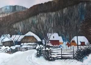 Winter Etude, 2017, paper, pastel, 50x70