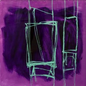 Із серії Chairs, 2016, скло, акр., 100х100