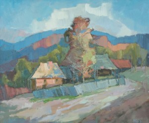 Vyshka Village', 2016, oil on canvas, 60x70