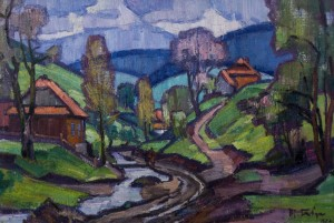 Spring Rain, 1972, oil on canvas, 68x100