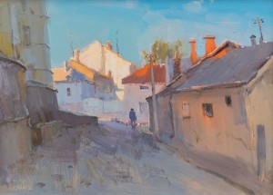 Morning rays. Uzhhorod, 2015, oil on canvas 39