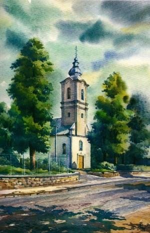 Church of the Transfiguration 1996 watercolour
