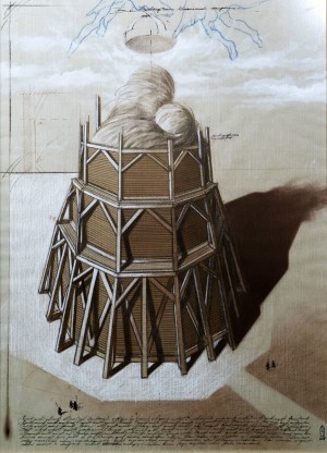 Zoltan Janvary Design for Regnum Marianum Sculpture mixed, drawing, paper 70х50