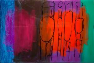 Із серії Chairs, 2017, скло, акр., 100х150
