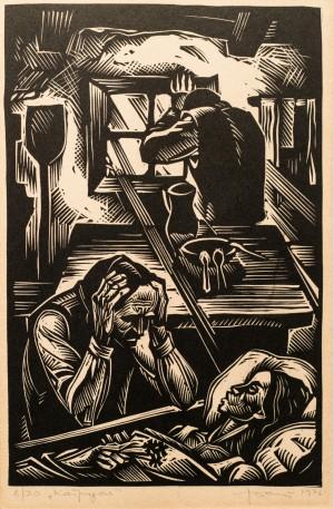 Katrusia, 1976, linocut printing technique