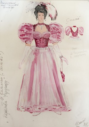 A Sketch Of Costume 'Silva'