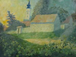Пономаренко Н. Вечір в угорському містечку, 2000, ДВП, о.
