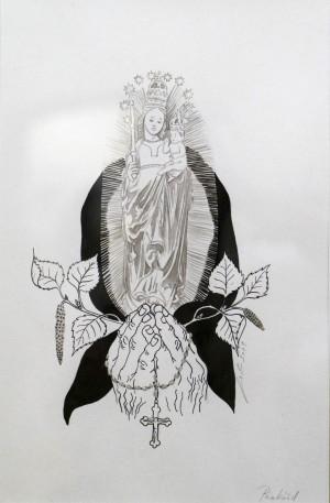 Marcell Jankovics Pentecost ink, paper 29,5х20