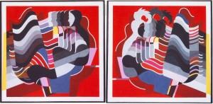 Ритми, диптих, 1993, п. темпера, 112х112, 112х113