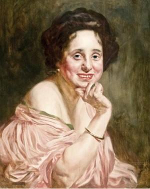 Портрет жінки що посміхається, дерево,о., 62х48,5
