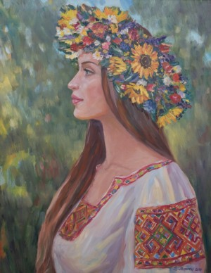 Ukrainian Woman, 2016, oil on canvas, 70x90