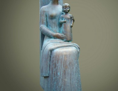 Motherhood, 1990, bronze, 75x23x33