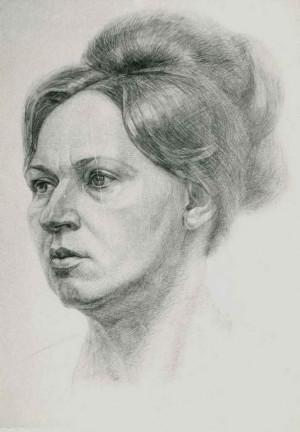Портерт жінки, 1982, пап.ол.