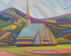 The Church in Borsa, 2016, oil on canvas, 60x80