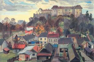 Uzhhorod. Pidhradska Street, 1989, oil on canvas, 100х147