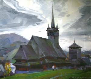 Скакандій В. Церква у селі Шандрово, 2008, п.акр., 70х80