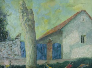 N. Ponomarenko. Annas House, 2000, oil on fibreboard